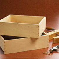 Wooden Box and Tools