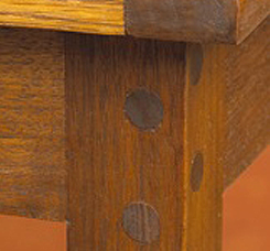 Table Joint with Dowel